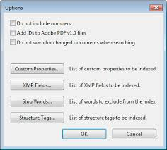 Creating PDF indexes, Adobe Acrobat