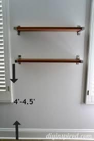 how high do you hang shelves 1