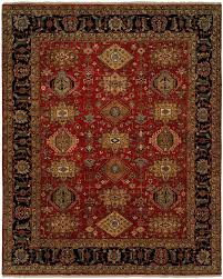 area rugs mcmahon hand knotted wool red black area rug