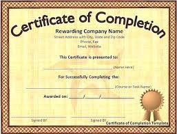 free certificate of completion template word certificate completion templates free award of for certificates