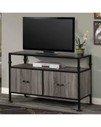 Home Source TV12365 48 Inch Wide Metal Framed Wood TV Stand Gray Inch Wide Tv Stand N71