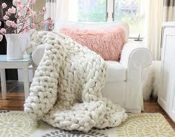 chunky arm knit throw diy