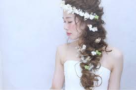 結婚式 花嫁 ハーフアップ ロングルーミエ Roumier Ikumi 155270hair