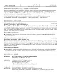 Superior Property Or Real Estate Accounting Resume Example Sample Of