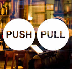 Push Pull Sticker Design Details About Pull Push Door 6cm Sticker Shop Window Cafe