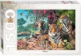 <b>Step Puzzle Пазл Тигры</b> — купить в интернет-магазине OZON с ...
