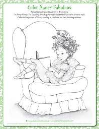 The colouring pages you will find as you delve through the site have been created for activity village over the years in a variety of. Fancy Nancy Printable Activities Fancynancyworld Com