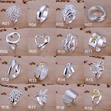 Man Finger Ring Design In Silver New Design Women Ring 925 Solid Pure Silver Plated Finger Ring Exquisite Decorative Jewelry Wedding Party Rings 64 Style Mix Wedding Bands For Men