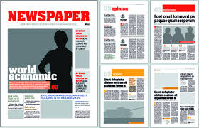 Typesetting Newspaper Vector Templates Free Vector In