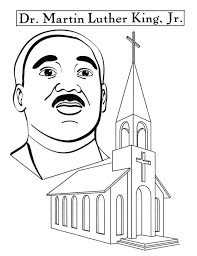 Martin Luther King Coloring Pages Printable Preschool Of Martin ...