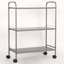 3 Shelf Wide Utility Storage Cart Gray - Room Essentials™ : Target