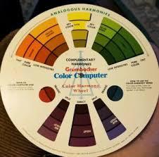 Details About Vintage 1977 Color Computer Color Harmony Wheel Chart M Grumbacher Inc B420