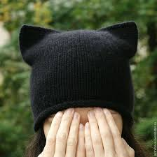 Вязаная женская <b>шапка</b>-кошка, <b>шапка</b> с ушками, котошапка для ...