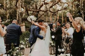 Weeding Photo Baker Mayfield And Emily Wilkinsons Romantic California Wedding