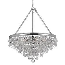 crystorama calypso 8 light crycrystal teardrop chrome chandelier
