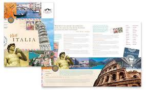 Catalog Template For Word Custom Italy Travel Brochure Template Design