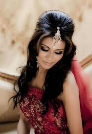 indian wedding hair halfup