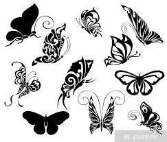 Fototapeta Vinylová Sada Tetování Motýlů