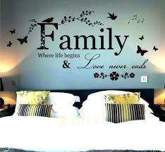 word wall art metal word wall art words decor family where life begins e bedroom m