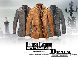 2016 new fashion motorcycle leather jacket men winter thick warm vintage leather jackets military mens trench