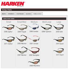 Sunglasses Frame Size Chart Harken Size Chart Sunglasses Team One Newport