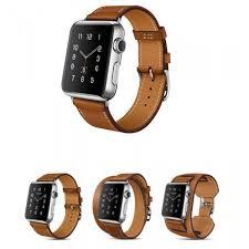 iwatch 42mm 3 in 1 hoco birkin style black leather strap