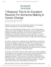 Resume Objective Examples For Career Changers Change Cover Letter