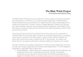 analysis of the blair witch a level media studies marked by document image preview