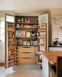 ... Amazing Tall Solid Brown Wooden Kitchen Pantry Cabinet Ideas White  Stained Wooden Cabinets Door Folding