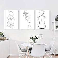 <b>Abstract</b> Lady <b>Body Line</b> Drawing Poster&Prints Simple Sexy ...