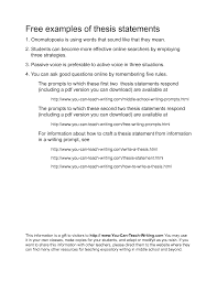 Personal Essay Thesis Statement Examples examples of a thesis statement for a narrative essay free statement 1