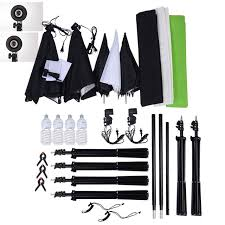 photography lighting kits 3 2m photography backdrop support stand tripod backdrops chromakey green black white