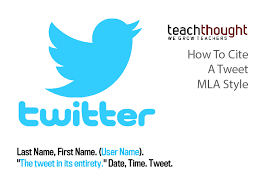 How To Cite How To Cite A Tweet Mla Style