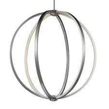 mill mason luminarian satin nickel 30 inch led globe pendant