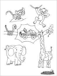 Safari Animals Template Baby African Safari Animals Coloring Pages Coloringbay