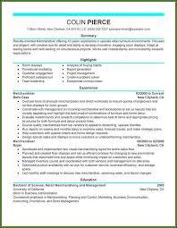 Sample Resume Retail Sales Merchandiser Resume Resume