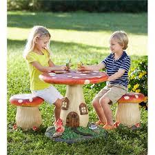 fairy tale mushroom furniture in