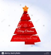 Red Ribbon Design Vector Christmas Tree Made Of Red Ribbon On A Lite