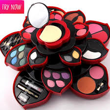 original miss rose eyeshadow makeup kit box collection party wear makeup eye shadow palette for dresser full kit dhl clothes storage cosmetics brands from