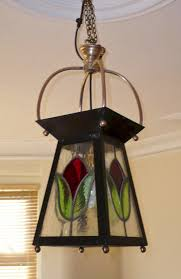 arts and crafts stained glass lantern antique hall lanterns