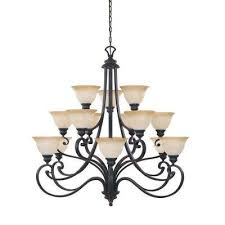 monte carlo 15 light hanging natural iron chandelier