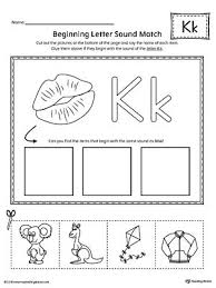 Home literacy phonics phonics worksheets letter sound. Letter K Beginning Sound Picture Match Worksheet Preschool Letters Beginning Sounds Worksheets Lettering