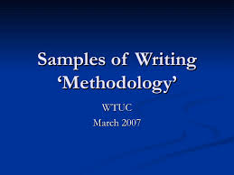 Method Of Procedure Template Gorgeous Sample Methodology