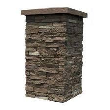 slatestone brunswick brown 30 in x 16 in faux polyurethane stone column wrap