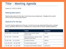 6 Free Meeting Agenda Template Microsoft Word Andrew Gunsberg
