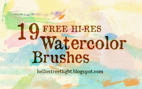 free watercolor brushes illustrator 500 high quality ink and watercolor brushes for photoshop