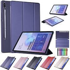 Bao da PU đựng máy tính bảng nắp lật thông minh chống sốc cho Samsung  Galaxy Tab S6 10.5 inch T860/T865