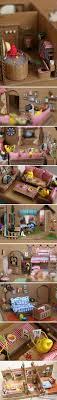 Cardboard dollhouse or stop-mo set