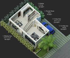30 40 site duplex house plan rare