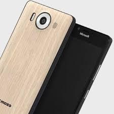 microsoft lumia 950. mozo microsoft lumia 950 wireless charging back cover - light oak
